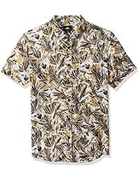 Men's Modern Fit Short Sleeve Woven Party Shirt