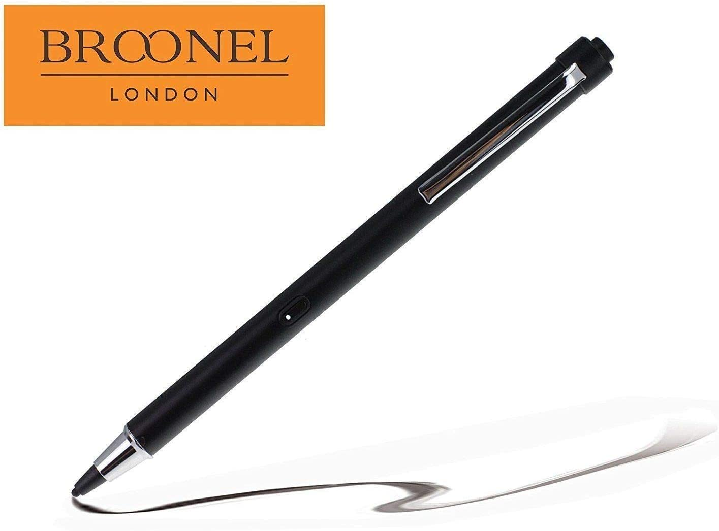 Broonel Midnight Black Rechargeable Fine Point Digital Stylus Compatible with The Lenovo ThinkPad L580 15.6 Inch