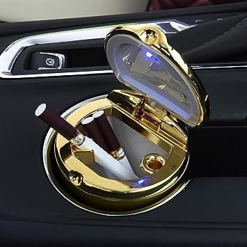 Cenicero de coche BeHave yh2671w universal de tereftalato de polibuteno con luz LED, soporte sin