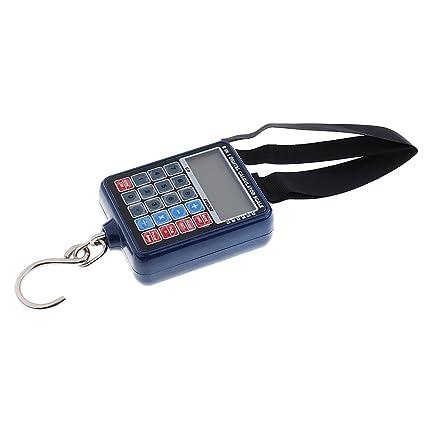 MagiDeal Báscula de viaje portátil 6 en 1 Calculadora Accesorios de Escala Pantalla LCD Cómodo