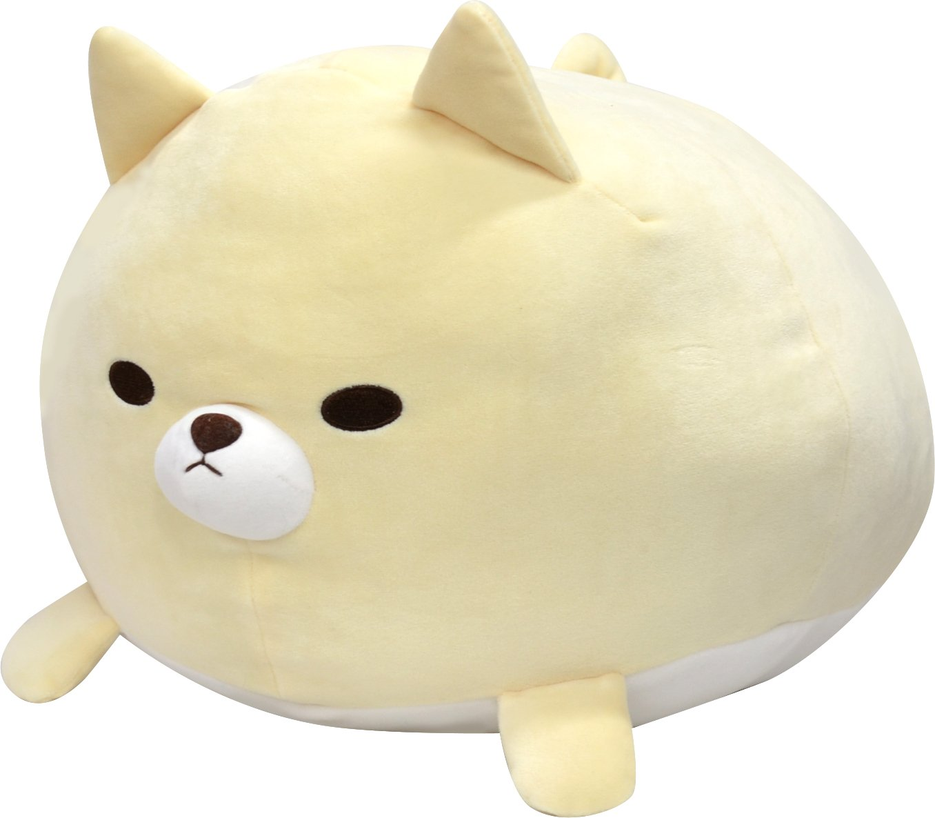 Tawaraken Fuwaitchichi  Akitainu  Cream dog  BIG Plush Stuffed Animals  40~45cm  Imported from Japan Yamani
