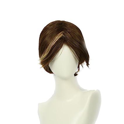Peluca para Mujeres Marrón Corta y Lacia Cosplay de Arya Stark Disfraz en Invierno Wig with