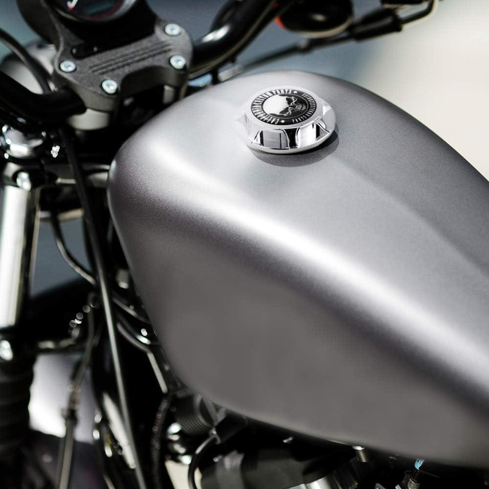 GUAIMI Tapa de aceite del tanque de gas combustible de aluminio CNC para Harley Davidson Sportster XL 1200883 X48 Dyna Dedo medio cromo