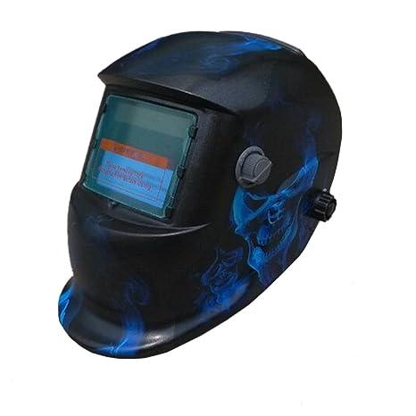 valianto oscurecimiento automático Solar Soldador Máscara Calavera Casco de soldar