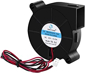 YIOVVOM 5015 Dual Ball Bearing Cooling Blower Fan DC12V 0.08A~0.15A 50mmx15mm for 3D Printer Humidifier Aromatherapy and Other Small Appliances Series Repair Replacement Brushless Blower Cooling Fan
