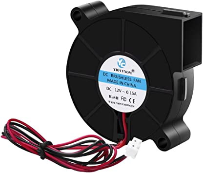 Security-01 50mm x 15mm 5015 12V Dual Ball Bearing DC Brushless Cooling Blower Fan BB5015H12 with 2 Pin Terninal UL TUV