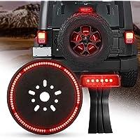 MImei LED 3Rd Third Brake Light+Spare Tire Brake Light Wheel Light for Jeep Wrangler JK Brake Tail Light Lamp Rear High…