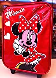 Disney Parks Authentic Minnie Mouse Child Size Rolling Suitcase NEW