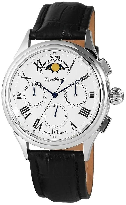Engelhardt Herrenuhr mit Echtlederarmband Armbanduhr Uhr 386722629003