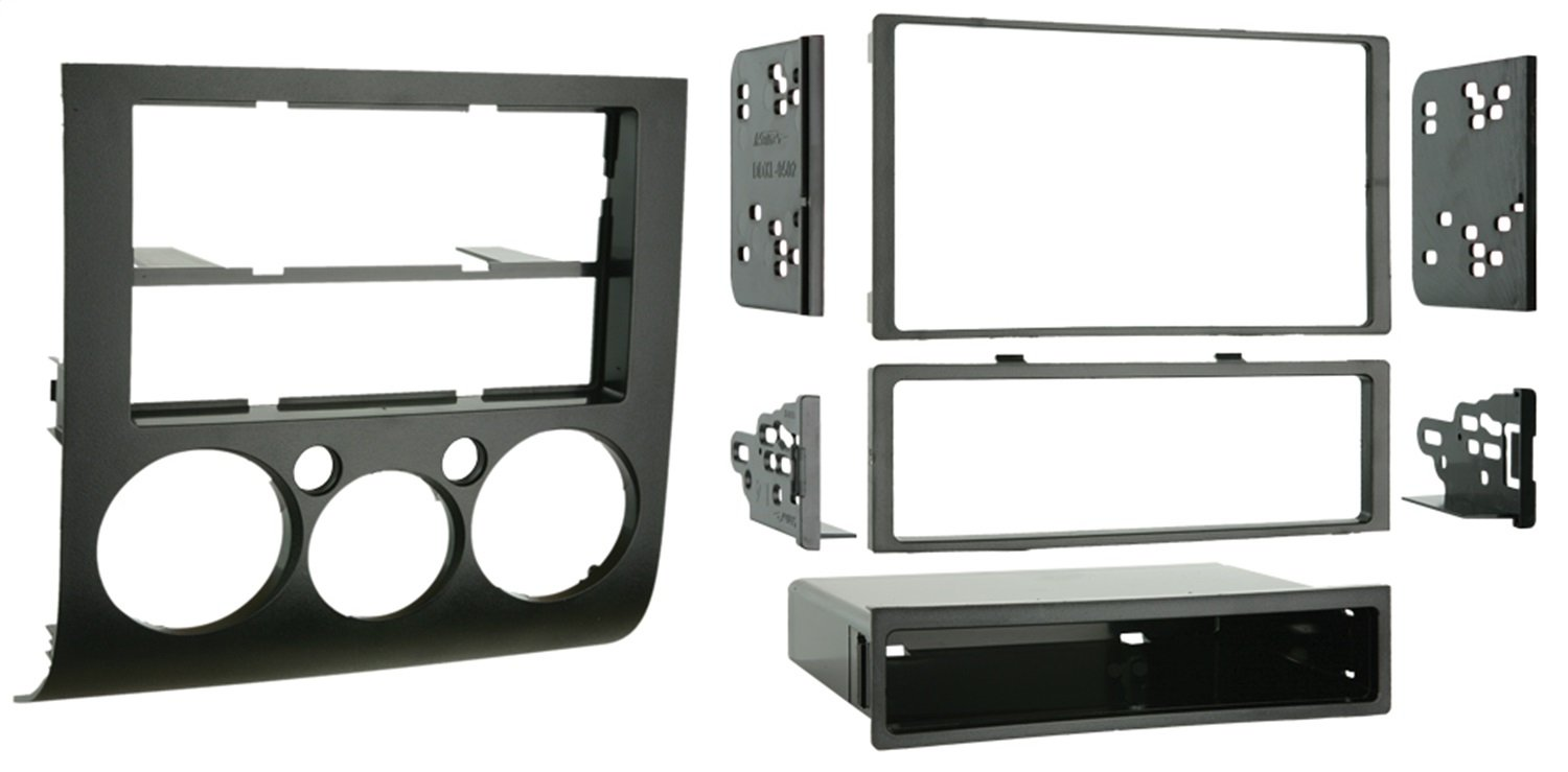Metra 99-7012 Single or Double DIN Installation Kit for 2004-2007 Mitsubishi Galant with Automatic Climate Control