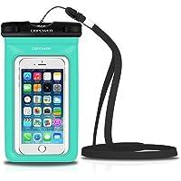 DBPOWER Custodia Impermeabile per Apple iPhone 4/4s/5/5s/6/6s/6plus/6s plus, Samsung Galaxy s3/s4/s5 ecc., Protezione contro Polvere e Sporco,  Custodia Antineve per Cellulari Fino a 6 Pollici (Verde)