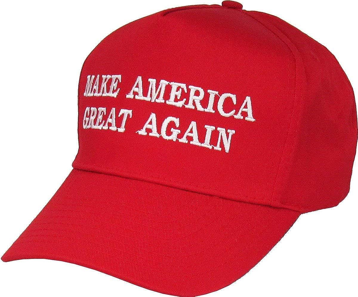 Donald Trump Hat Make America Great Again MAGA Hat Adjustable Baseball Hat USA Waving Flag Lapel Pin Combo Pack by HomeSmith