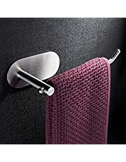 ZUNTO Towel Bar/Towel Ring - Self Adhesive Towel Rack Bathroom Towel Holder No Drilling, Stainless Steel Brushed