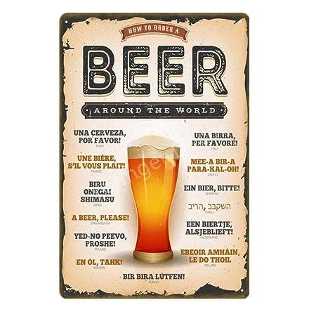 shovv Bebidas Cerveza Cartel de Chapa Cartel de Metal ...