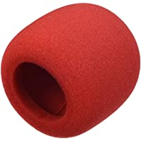 uxcell® Thicken Ball-Type Sponge Foam Mic Cover Handheld Microphone Windscreen Shield Protection Wine-Red for KTV Broadcasting