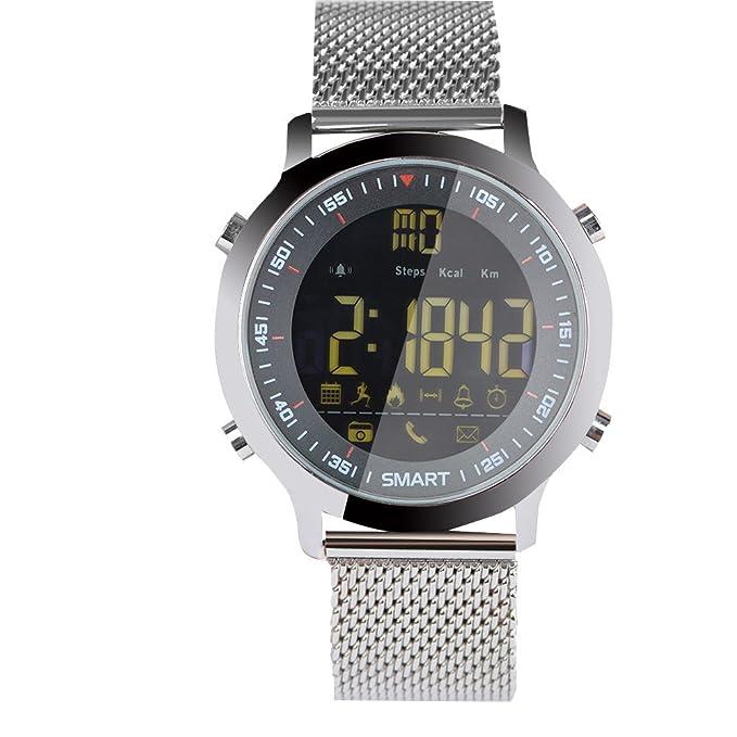 Btruely SmartWatch Multifunción, Reloj Deportivo ex18 Smart Bluetooth Reloj 5atm Reloj de Alerta de sueño