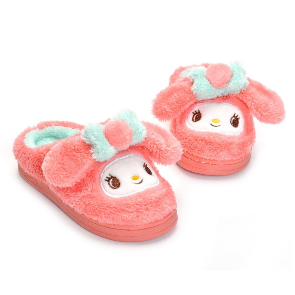 Toddler Girls Pink Bunny Slippers Children Cartoon Cute Rabbit Winter Warm Plush Fur Shoes by Matt Keely (Image #2)