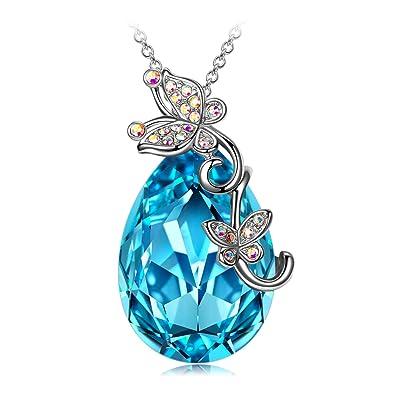 6ba569006ee4 J. RENEÉ  quot Amor de la Mariposa Colgantes Mujer con Cristales de  Swarovski