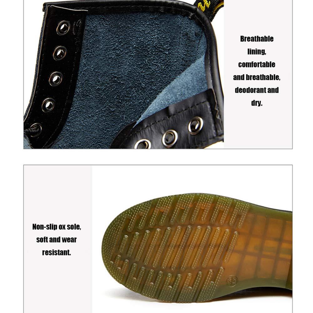 Stivali Da Donna Martin Stivali Unisex In Pizzo Pizzo In Retrograve; Stivali Da Combattimento Skid Invernale E Impermeabile,Nero-B-44 - c13241