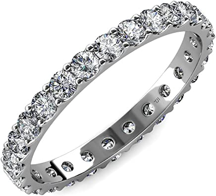 TriJewels Diamond 3mm U-Prong Eternity Band (SI2-I1, G-H) 1.80 Carat tw to 2.07 Carat tw in 14K Gold