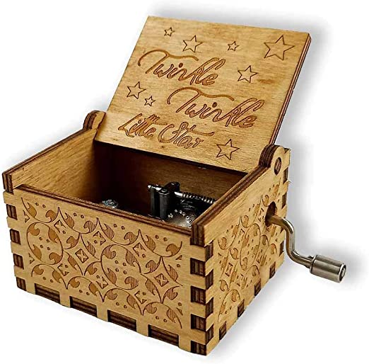 Integrity.1 Caja de Música de Madera con Manivela, Caja de Música Decorativa Tallada, Caja de Música de Madera Antigua, como Regalo para Niños, Decoración del Hogar (Twinkle Twinkle Little Star): Amazon.es: Hogar