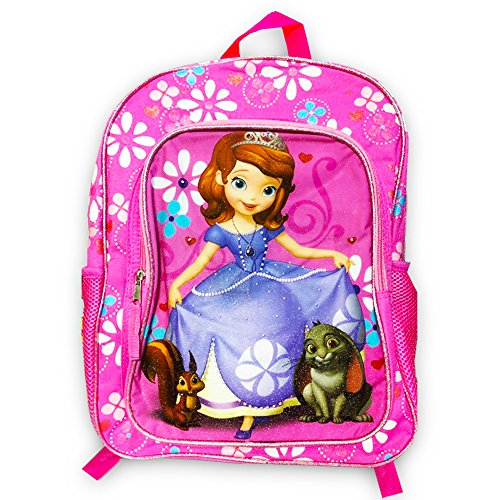 Disney Girls' Sofia The First Backpack with Super Lights, PURPLE -