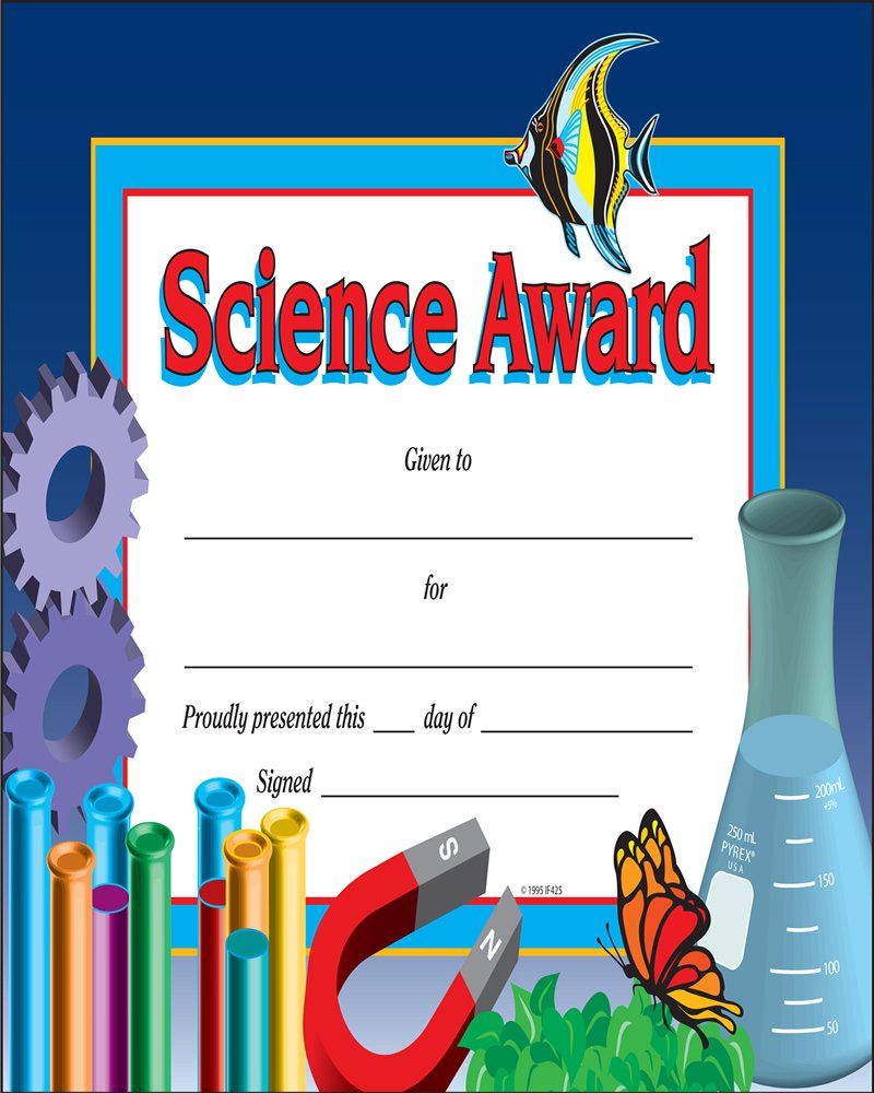 science certificate of achievement template images