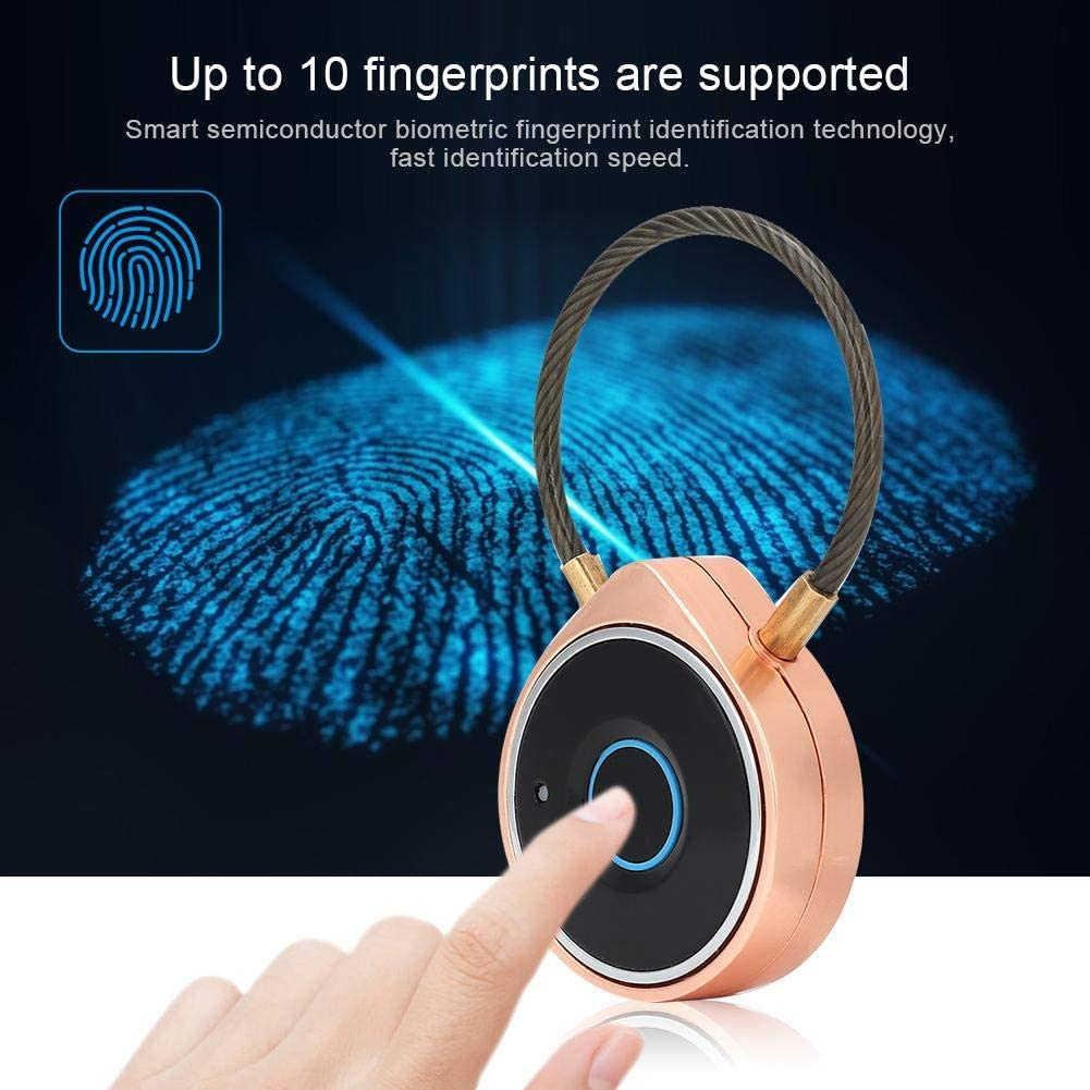 Smart Fingerprint Bluetooth Padlock USB Rechargeable Intelligent Security Lock with Steel Beam Support APP Bluetooth Unlock T angxi Smart USB Padlock