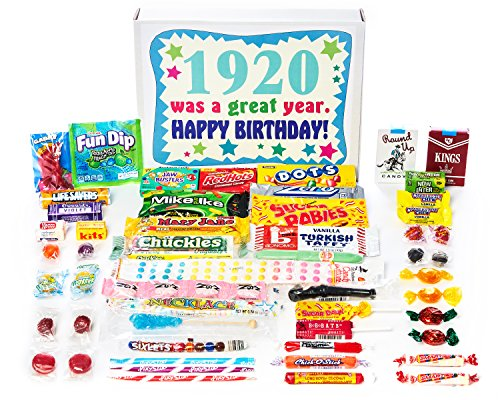 20 98th Birthday Gift Box of Nostalgic Retro Candy from Childhood for 98 Year Old Man or Woman Born in 1920 ()