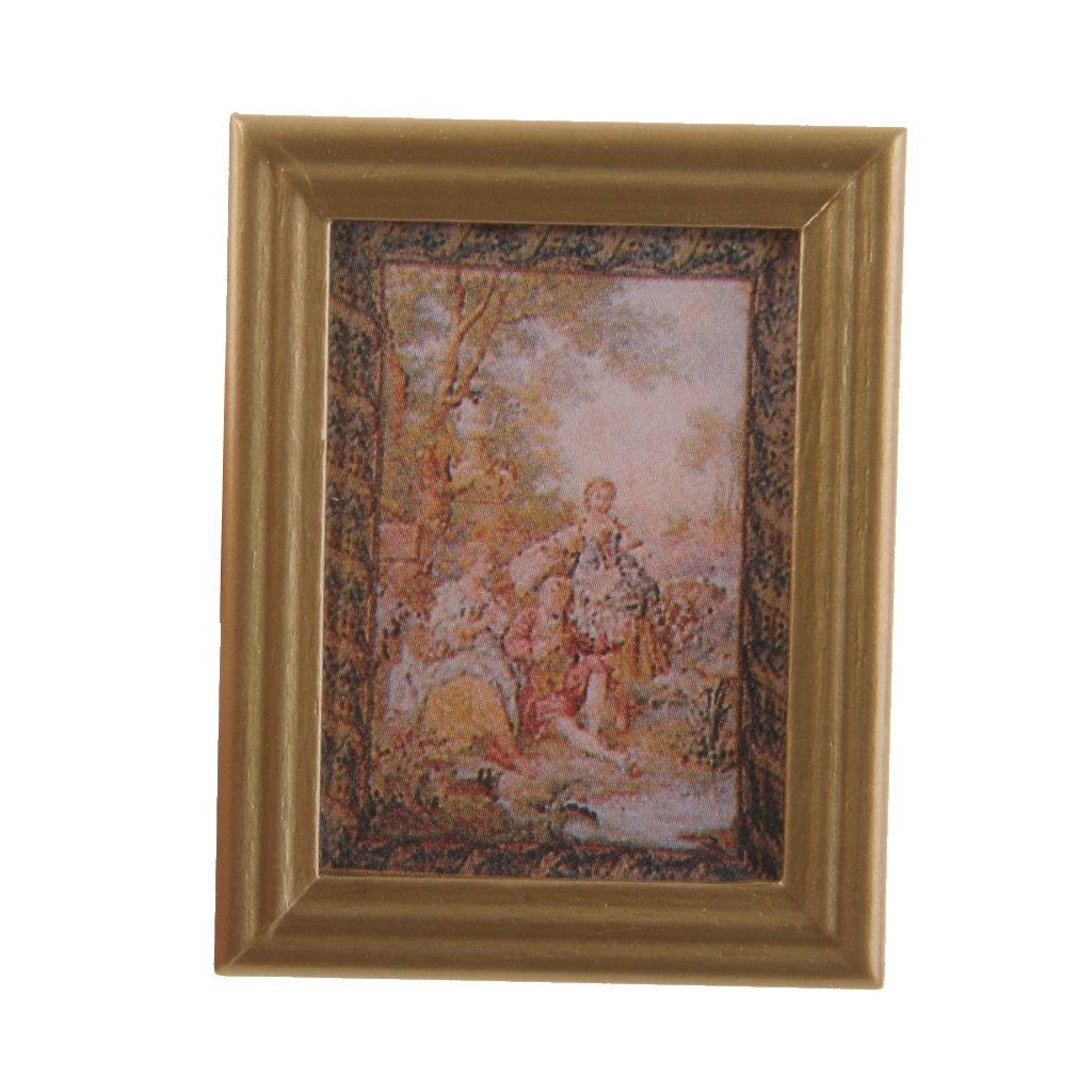 1/12 Cuadro de Pared Miniatura Pintura Otoño Accesorio Decorativo para Casa de Muñecas Generic JPA15016760