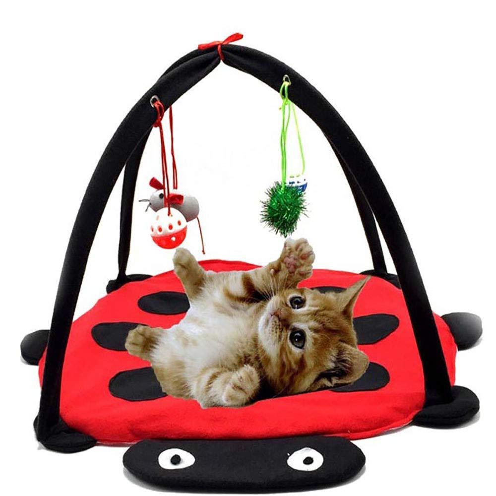 Forepin Panier pour Animal Domestique Toys Tente à Suspendre avec Mouse Bell Balles Chaton Interactive d'activité Housse de Tapis de Jeu Pad Couverture Hamac Maison Chats Meubles
