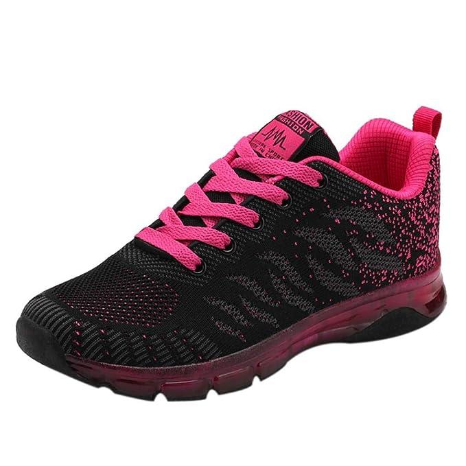 Sneaker Damen Turnschuhe Laufschuhe Netzlaufschuhe Schüler Joggingschuhe Fliegende Gewebte Schuhe Freizeitschuhe Air Cushion Sportschuhe Gym