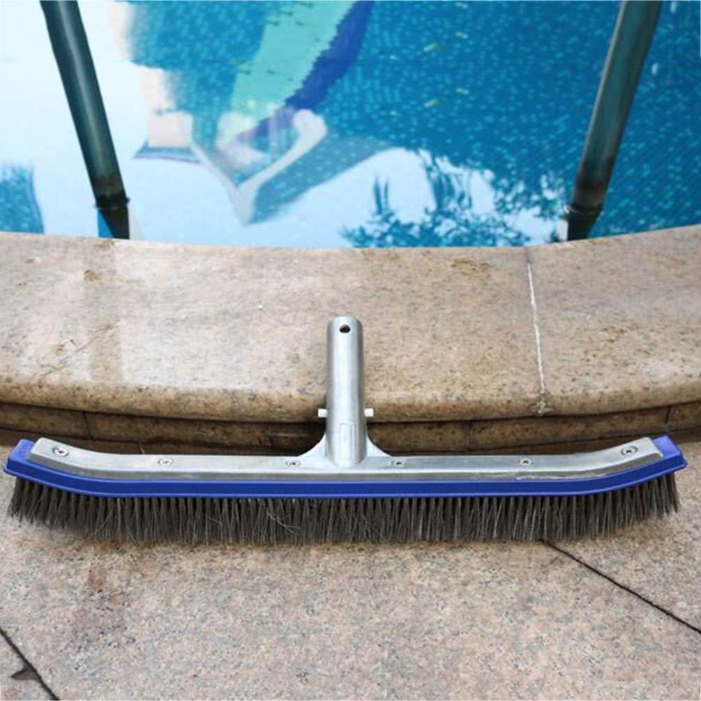 LIFEZONNY Floor Cleaner Brush Aluminum Nylon Algae Pool Brush Pool Cleaning Brush for Tiles Cleans Walls Floors