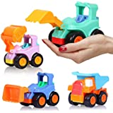 BEESTECH Toy Cars for 2,3,4,5 Year old Boys Girls Toddlers, Friction Powered Cars, Push and Go Construction Truck Toys…