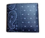 COACH 3-in-1 Bandana Prairie Print Compact ID Wallet in Midnight Navy Blue 58932