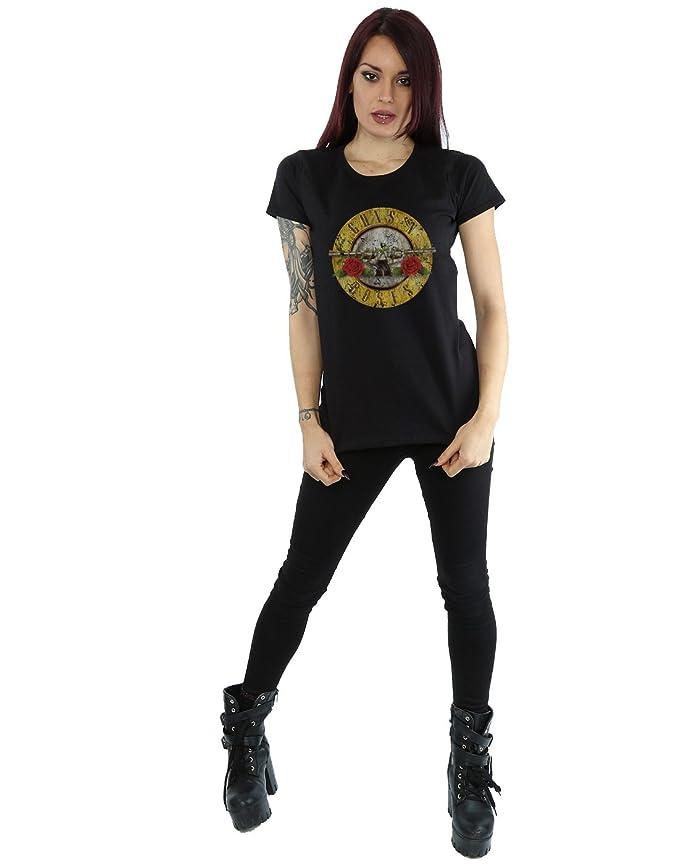 Amazon.com: Guns N Roses Womens Vintage Bullet Logo T-Shirt Medium Black: Clothing