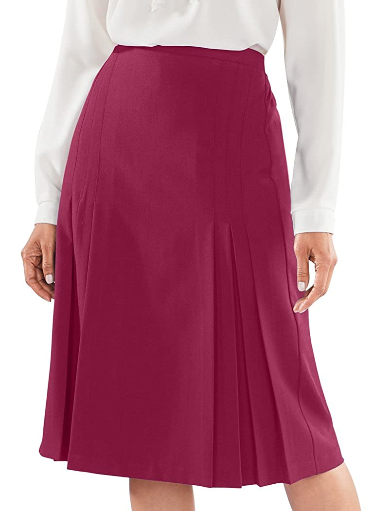 f2fa045453 AmeriMark Tucks & Pleats Skirt at Amazon Women's Clothing store: