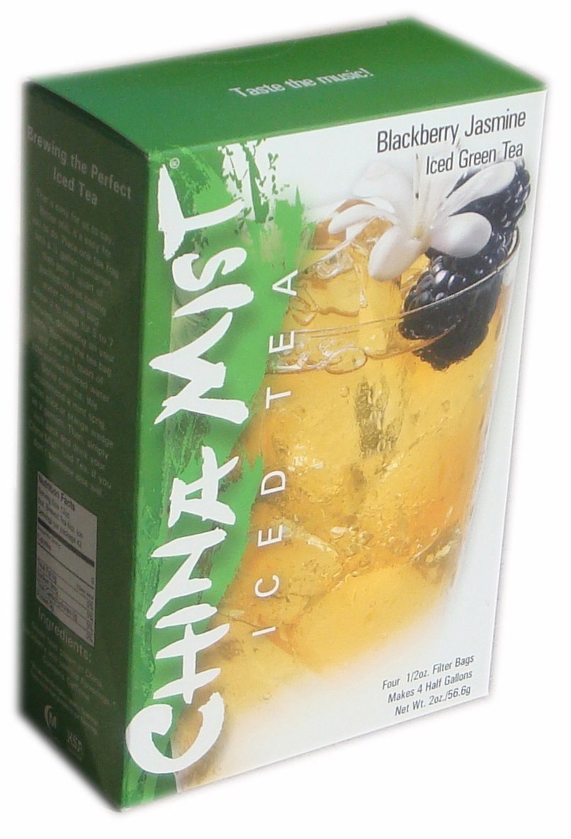 China Mist Iced Tea Brew-at-Home Iced Green Tea, Blackberry Jasmine, 2-Ounce Packages (Pack of 6)