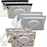 Portable Wet Wipe Pouch Reusable & Refillable Baby Wipes Dispenser, Eco Friendly and Lightweight Handy Travel Diaper…