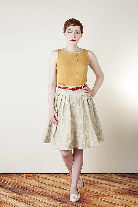 Colette Patterns - Zinnia Skirt Sewing Pattern: Amazon.co.uk ...