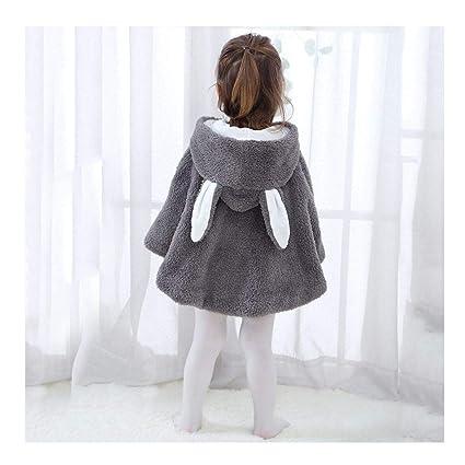 1029829af6e48 ベビー服 子供服 Timsa ふわふわ うさぎ 耳付き コート ぬいぐるみ 新生児 アウター 長袖 かわいい 柔らかい フード