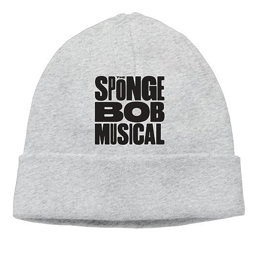d25c71601bf79 The SpongeBob Musical Logo Beanie Hat Skull Cap For Men Women (6 Colors) Ash