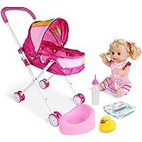 4PCS / SET Babydoll voor wandelwagen opvouwbare Pram Gift Set Met Baby Doll Printing Cartoon Ontwerp kinderwagen Met…