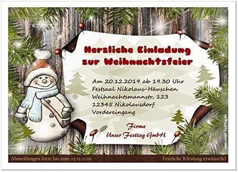 Tarjetas De Invitación Empresas Fiesta En Navidad Diseño