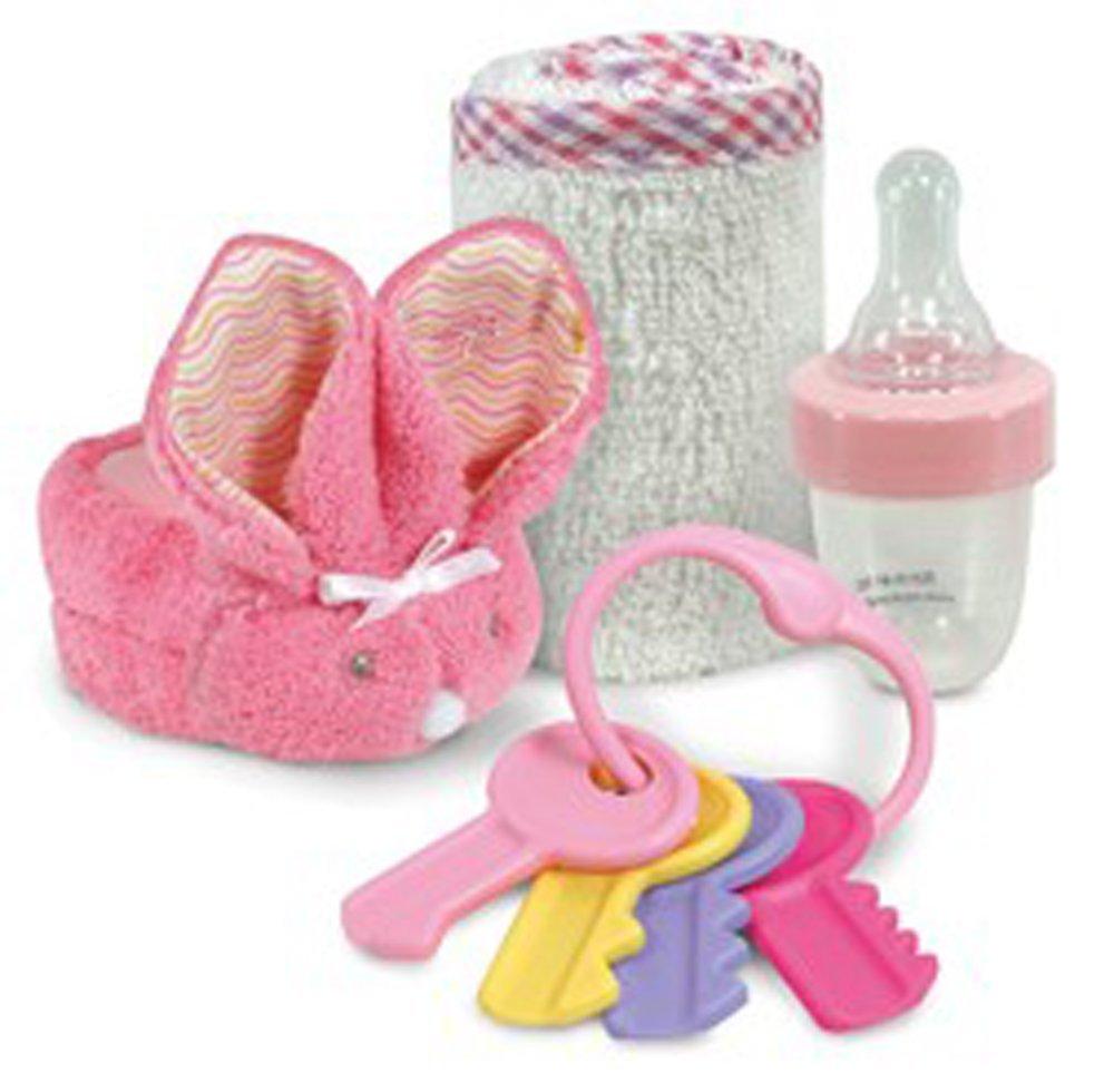 Amazon.com : Box bebé perfecto regalo Conjunto de Premio Ganador Boo-Bunnie, botella de la medicina, Cayo Rattle and Soft Toallita (rosa) : Baby