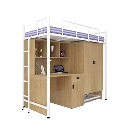 Unicos Jumbo Bunk Bed With Study Table And Storage In Urban Teak And