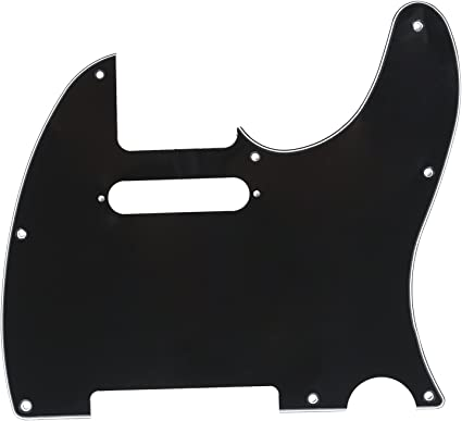 3 Ply 8 Hole Black Pearl 3 Ply 8 Hole Pickguard for USA MIM Fender Tele
