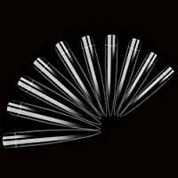 AORAEM Stiletto False Nail Clear Extra Long Sharp Nail Art Tips 12 Sizes 120 Pcs Acrylic Nail (Clear Long Nail)