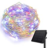 HEEPOW Outdoor String Lights, 200 LED Solar Fairy Lights 72ft Flexible Copper Wire Auto On/Off 8 Modes Waterproof IP65 String Lights for Garden, Patio, Windows, Trees, Party (Multi clours)
