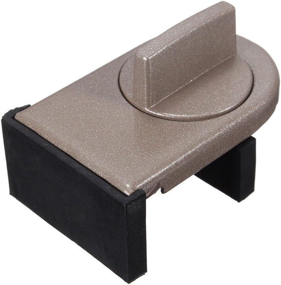 YHJGKO Pilar de los 1PCS Panel Deslizante de Bloqueo de la Puerta Ventana acorazada de Bloqueo, Ventana de plástico de los niños en Acero de aleación Anti-Robo de Aluminio Cubierta de Enclavamiento
